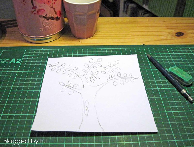 Boomstempel-tekening